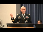 Army Gen. Martin E. Dempsey, Chairman, Joint Chiefs of Staff talks at End of Service Ceremony