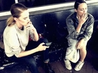 Models Smoking. Rachel Rutt and Nicole Pollard. By Ollie Henderson