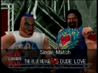 The Blue Meanie vs Dude Love(With Commentary)