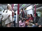 No pants subway ride Hong Kong 2014