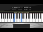 Wagner   Bridal Chorus Easy Piano Tutorial